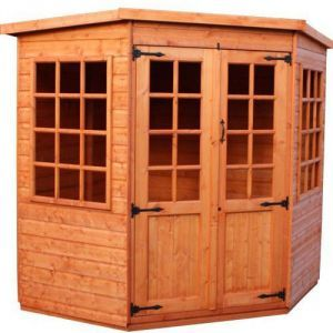 Strongman 7ft x 7ft (2.05m x 2.05m) Pentagon Loglap Corner Summerhouse