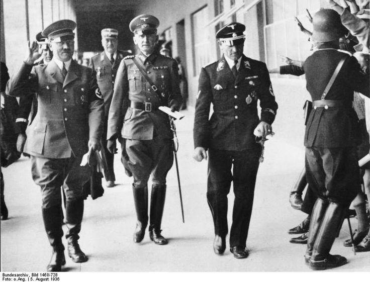 Adolf Hitler Erwin von Witzleben et Sepp Dietrich 1936 Jeux olympique de Berlin