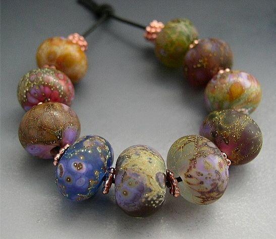 amber van meter naos glass lampwork beads