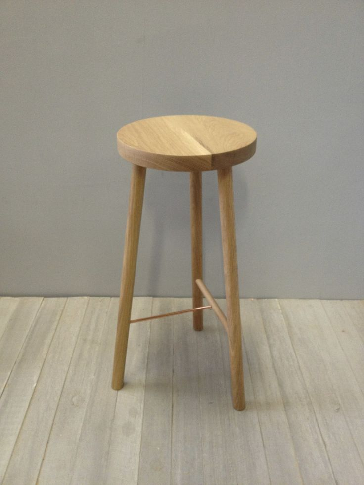 american oak bar stool