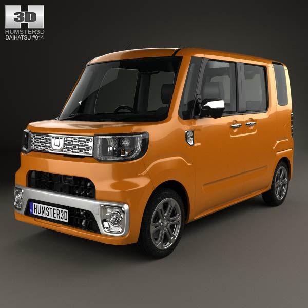 Daihatsu Wake 2015 3d model from humster3d.com. Price: $75