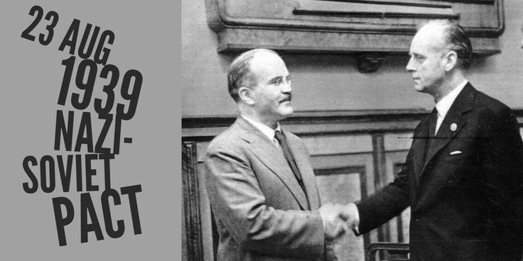 23 August 1939. Nazi-Soviet Non-Aggression Pact is signed by Molotov and Ribbentrop