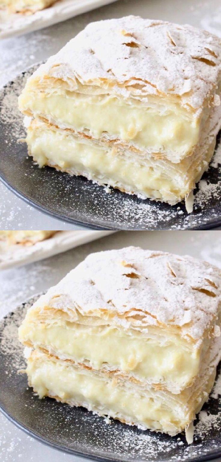 Vegan Custard Puff Pastry Napoleon Recipe • Veggie Society