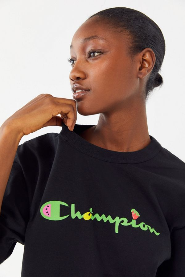 db74f3c6cf9e Shop Champion X Susan Alexandra UO Exclusive Fruit Logo Tee at Urban  Outfitters today. Discover