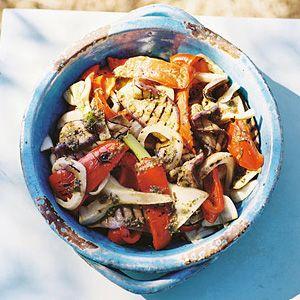 Recept - Gegrilde groentesalade - Allerhande