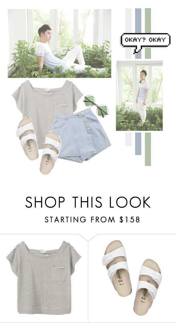 """""""Do Kyung Soo"""" by lazy-alien ❤ liked on Polyvore featuring Steven Alan, Birkenstock, Retrò, do, EXO, exok and dokyungsoo"""