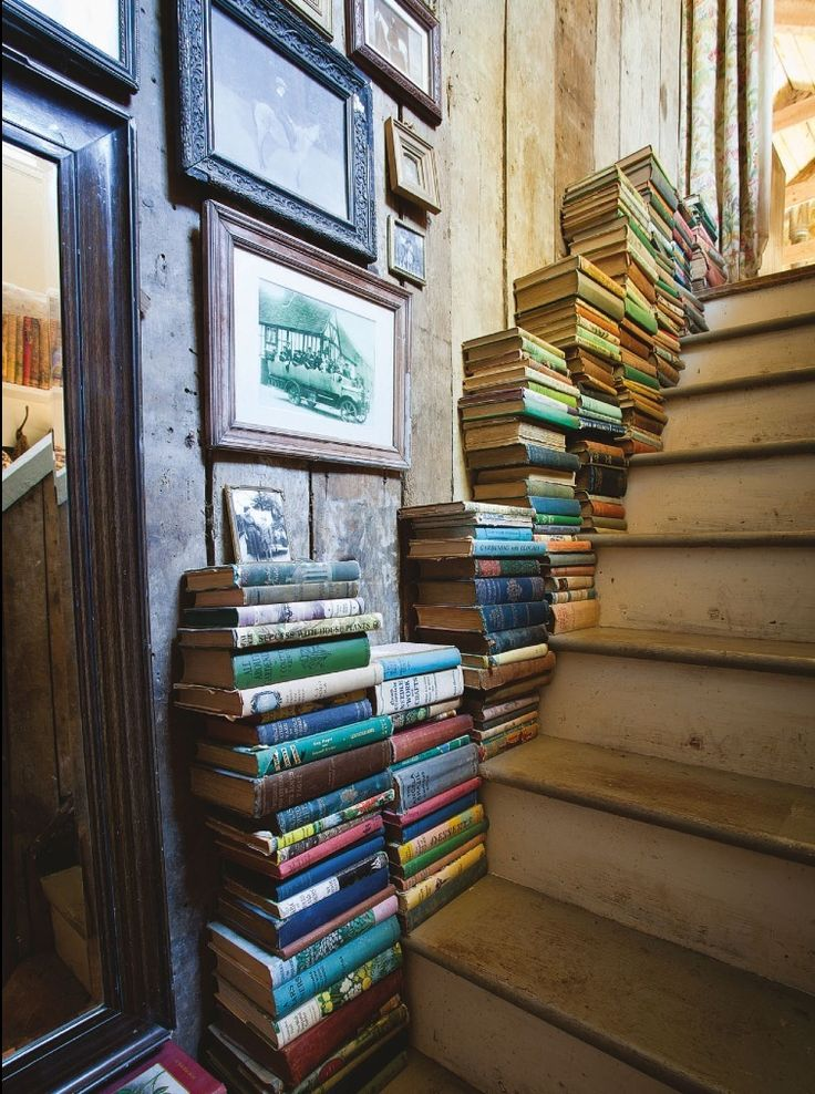 Book storage. So that is what stairs are for!