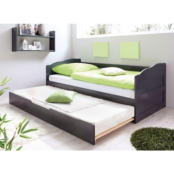 Sofabett Funktionsbett Gastebett Mit Auszug Melinda Kiefer Grau Ticaa Mobelideen Ikea Bett Sofa Bett