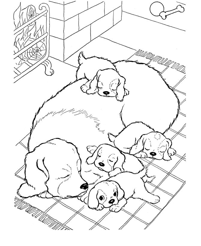 Dog And Puppy Coloring Pages Find Awesome Coloring Pages At