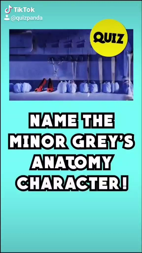 Guess The Minor Grey S Anatomy Character Trivia Quiz By Quiz Panda Video Greys Anatomy Memes Greys Anatomy Characters Greys Anatomy