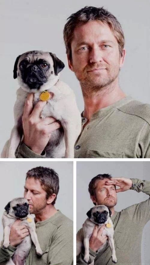 Gary and pet