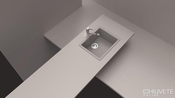 Chiuveta Granit Schock Quadro N-100 Beton