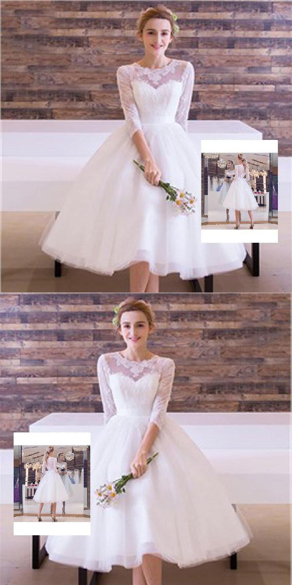 dcc2cdb1f775d Wedding Dress White #WeddingDressWhite, Wedding Dress Lace  #WeddingDressLace, White Lace Wedding Dress #WhiteLaceWeddingDress, Cute  Wedding Dress ...