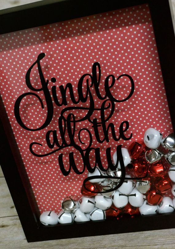 Jingle All The Way Shadow Box! LOVE THIS! I could change out my ticket shadow box for seasonal things