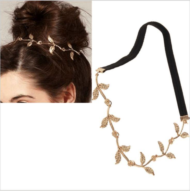 Лист сплава греческий гирлянда лоб руководитель группы волос повязка на голову золота оливковая ветвь аксессуар