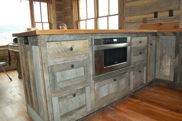 barn board kitchen cabinets recycled cabinets kitchen barn ...