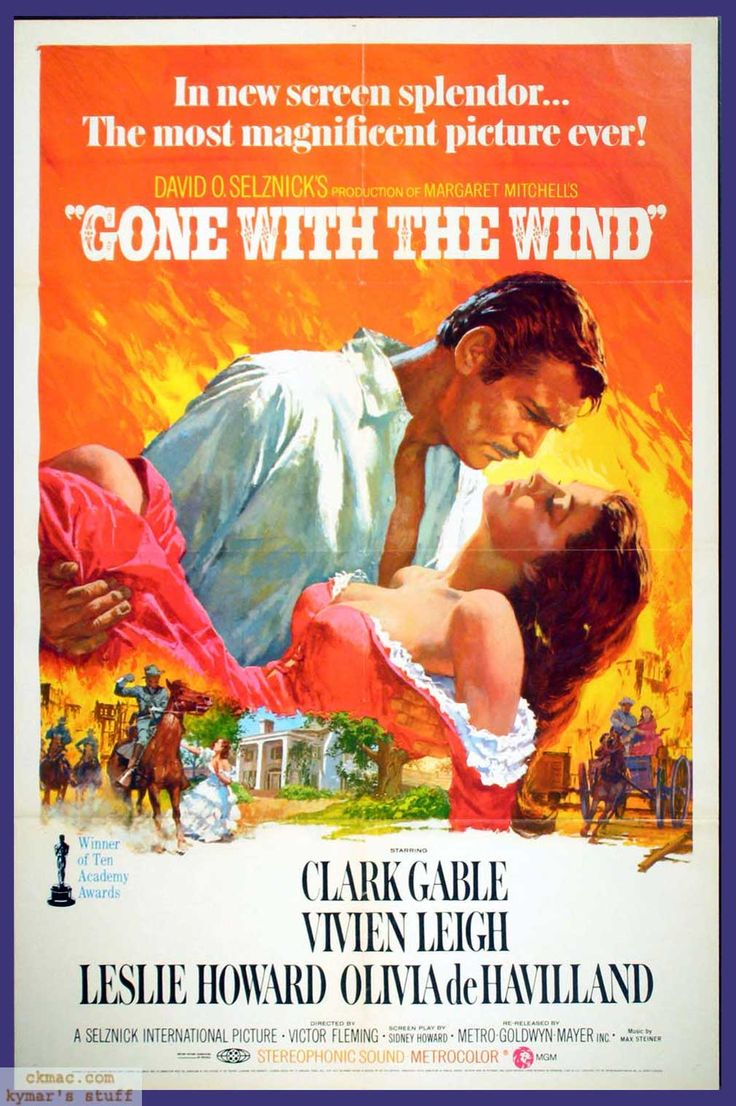 "Gone With the Wind ""Via col vento"" di Victor Fleming, George Cukor, Sam Wood (1939)"