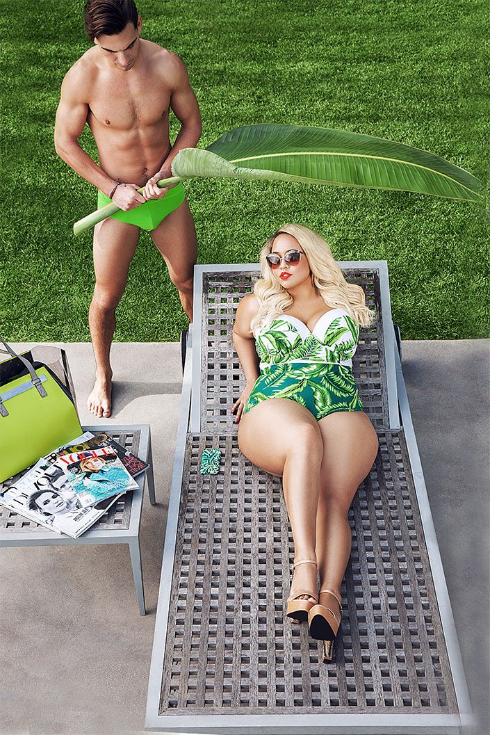 The plus size fashion blogger launched a new line of swimwear this year in collaboration with Swimsuits For All. Even though the photos