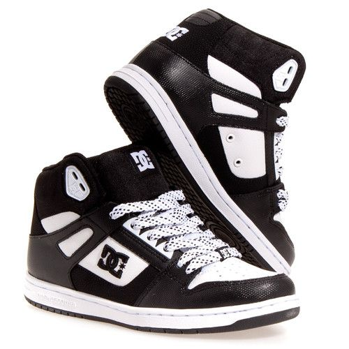 DC Shoes Womens Rebound Hi Leather Skate Casual Skate Shoes I REALLY WANT THESE SO BAD!!!!!!!!!