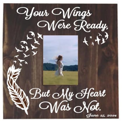 Memorial picture frame  bereavement gift  sympathy gift