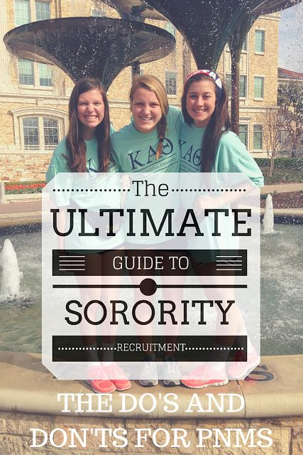 25  best ideas about sorority recruitment tips on
