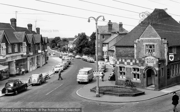Burgess Hill, Station Road c.1965, from Francis Frith