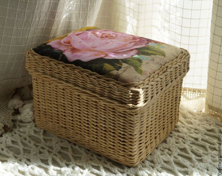 Купить Шкатулка для рукоделия Глория - бежевый, розовый, роза, для рукоделия, удобная, хранение мелочей