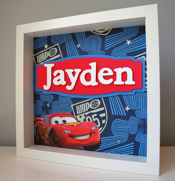 Disney Cars Personalized Children's Decor By