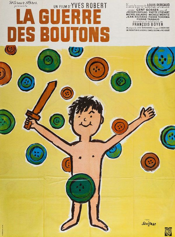 "War of the Buttons (Yves Robert, France, 1962). Credited as ""d'apres Savignac."""