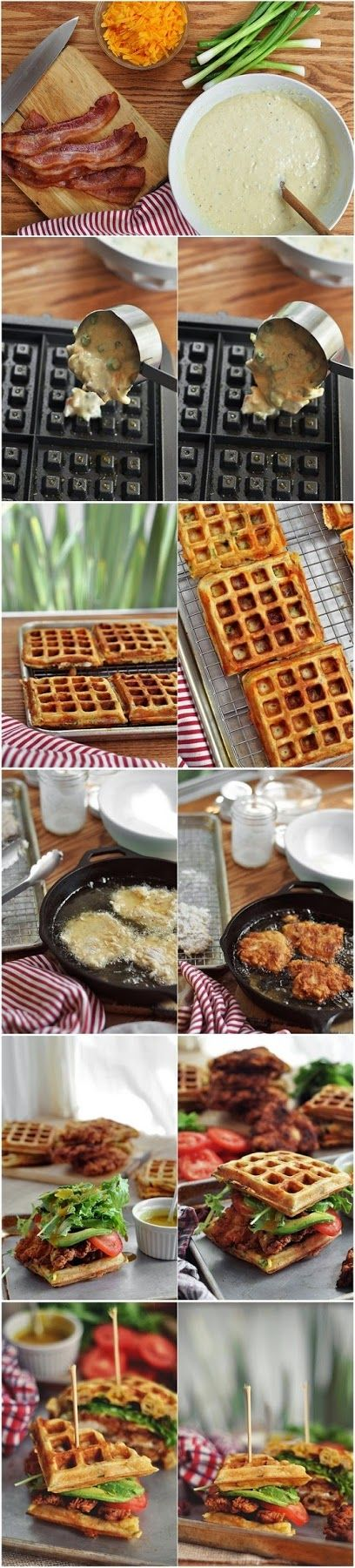 How To Make Fried Chicken and Waffle Sandwiches