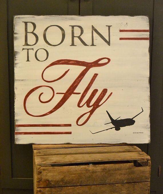 Reclaimed wood airplane art