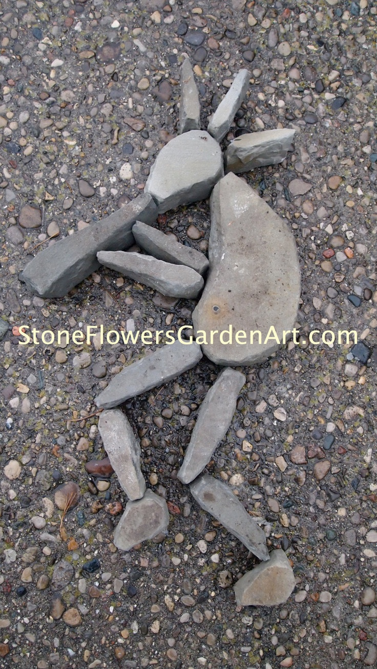 Stone Flowers Garden Art         Hand Chipped Sandstone Kokopelli. $125.00, via Etsy.