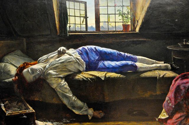 Henry Wallis - Death of Chatterton, 1856 at Tate Britain Art Gallery London England by mbell1975, via Flickr
