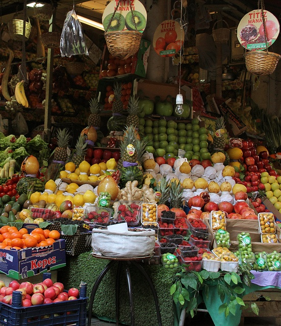 After the fish purchase let's have a look at the fruits and veggies. Fish Market, Beyoglu, Istanbul.