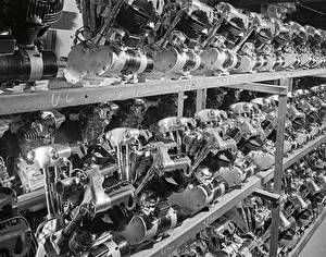 Harley-Davidson Museum Shop - Knucklehead Engines, 1939 : Posters and Framed Art Prints Available