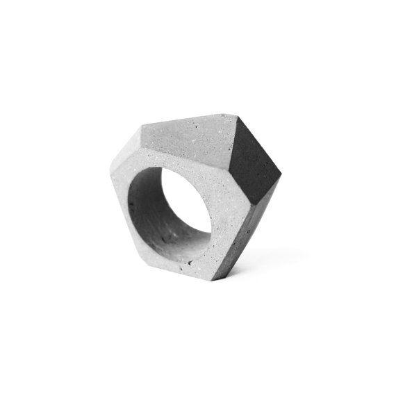 Beton Ring, Beton Schmuck, moderner und minimalistischer Schmuck, Architekten Geschenk, Beton Schmuck Kollektion, zeitgenössischer Schmuck