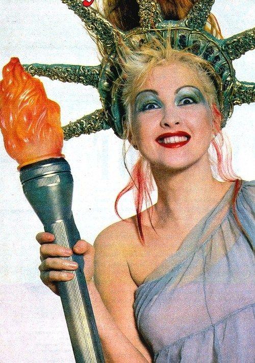 Cyndi Lauper as the Statue of Liberty