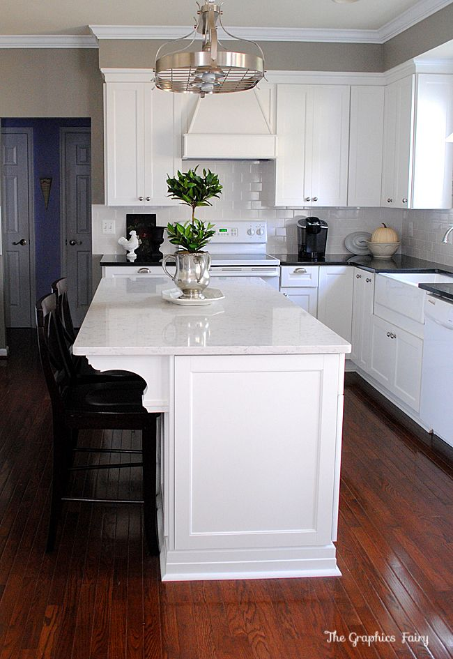 Kitchen renovation reveal countertops new kitchen and for Kitchen ideas no island