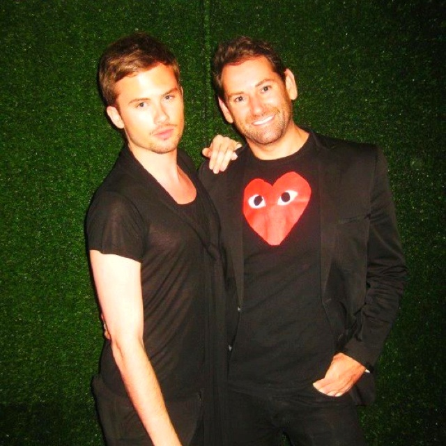 Scott and Jordan at Fashion Palette launch party 2012.