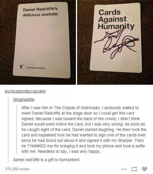 Daniel Radcliffe is a gift