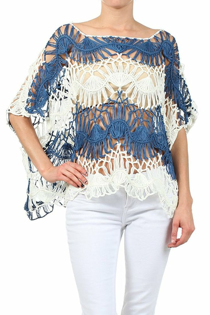 9 Best Fashion Images On Pinterest Addiction Backpacks And Top Adult Pants Xl Isi 10 Two Tone Dolman Sleeve Crochet Knit Blue Smallmedium At Amazon Womens Clothing