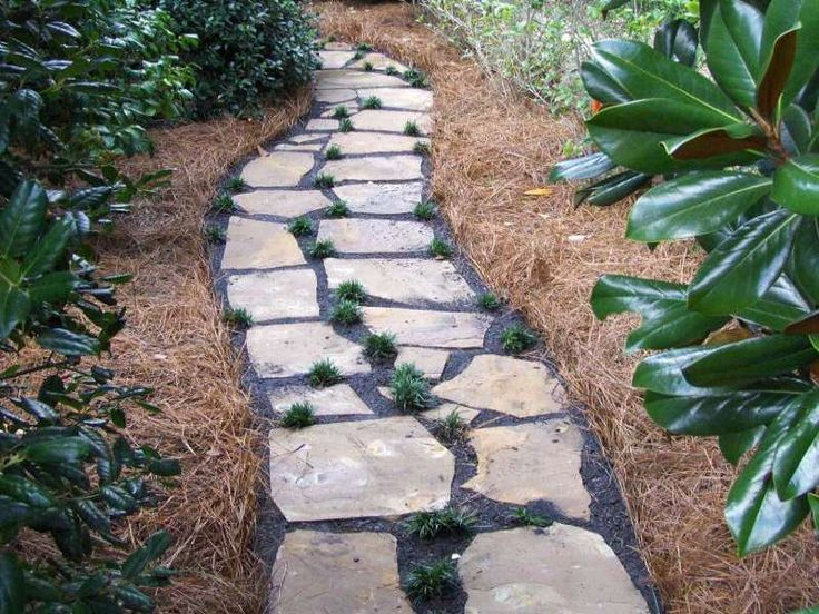Flagstone Walkway Design Ideas light flagstone path walkway and path landscaping network calimesa Astonishing Wilmington Nc Landscape Photo Gallery Gunnell Landscaping Services With Beautiful Plant Idea Of Installing Flagstone