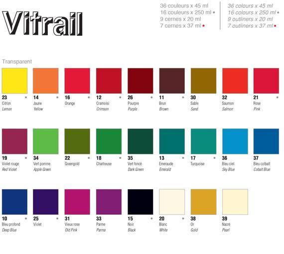 Pebeo Vitrail Transparent Glass Paint 45ml Pots Etsy Transparent Glass Paint Glass Painting Luminous Colours
