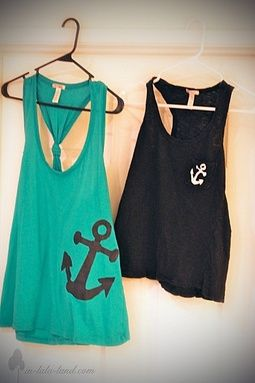 DIY tops with anchor