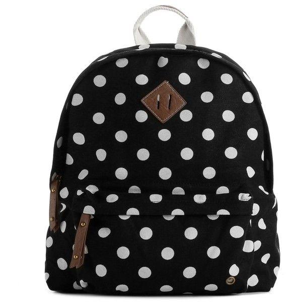 Madden Girl Skool Polka Dot Backpack ($35) ❤ liked on Polyvore featuring bags, backpacks, accessories, purses, zz-back to school, rucksack bag, polka dot bag, steve madden, backpacks bags and dot bag