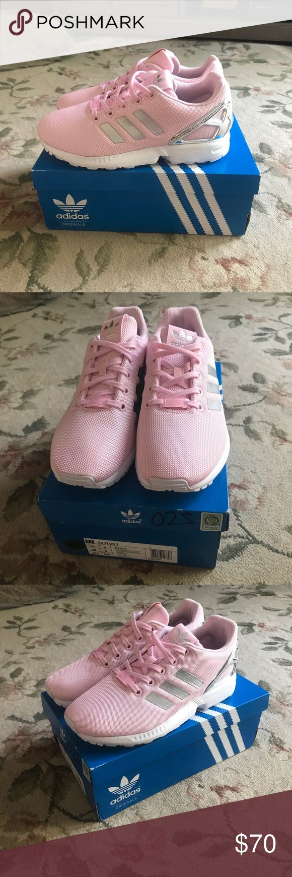 ZX Flux Light pink and silver adidas flux zx 3 adidas Shoes Sneakers