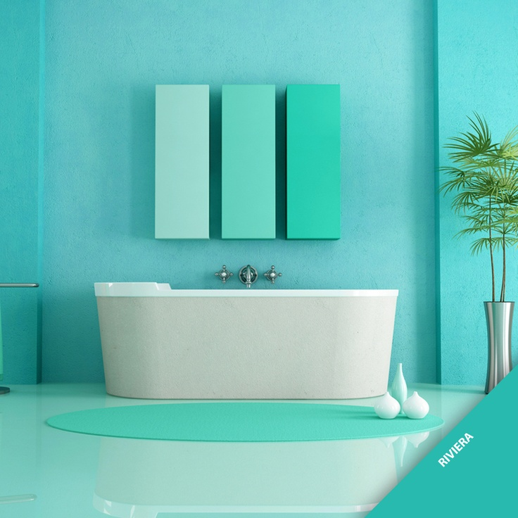 Nosso tom tendência 2013, Rivieira, reflete a natureza da costa brasileira e é ideal para banheiros e cozinhas. Que tal deixar um ambiente da sua casa mais vibrante com tons da Tintas Iquine?