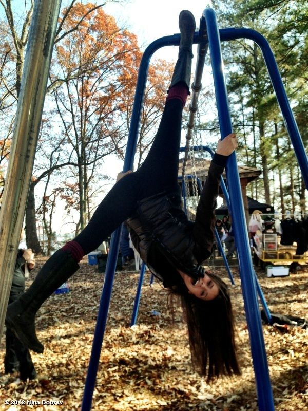 "NINA DOBREV hanging out on set twitter photo | Nina Dobrev's photo: Just ""hanging"" out on set. #seewhatididjustthere?"
