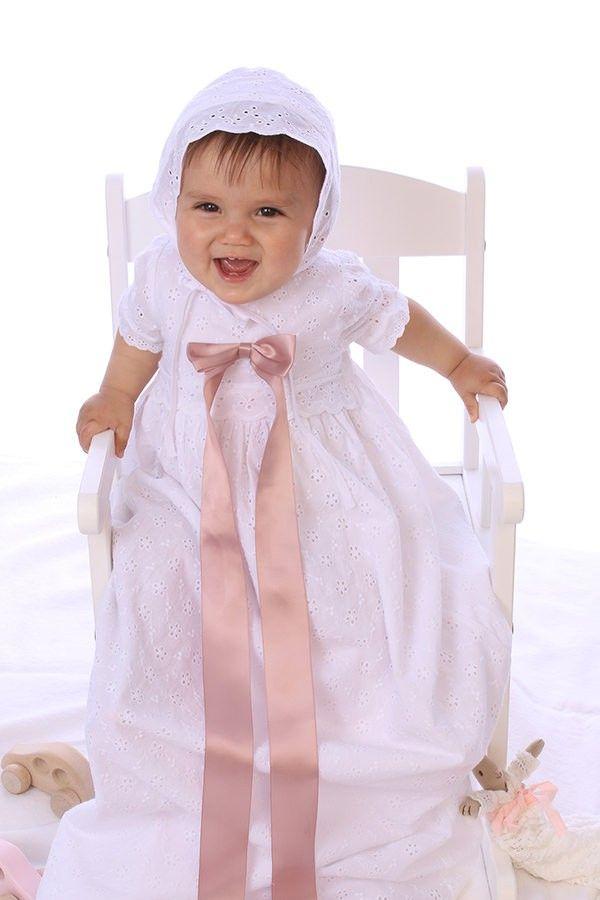 Lyngby Christening Gown and bonnet from Oli Prik at christeningwearcopenhagen.com