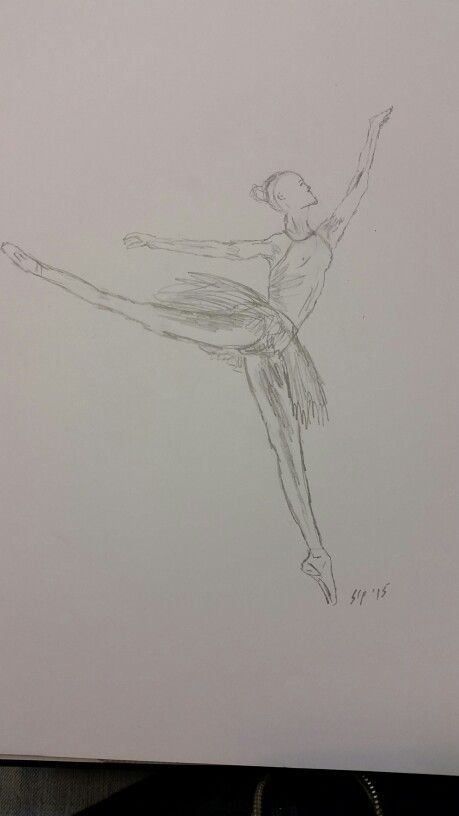 "10 minute sketch #stpartwork ""Ballet Dancer"""
